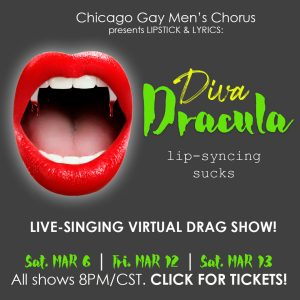 Lipstick & Lyrics: Diva Dracula @ Virtual Event